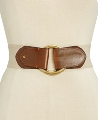 Inc International Concepts Hook Front Stretch Belt Only At Macy's Natural