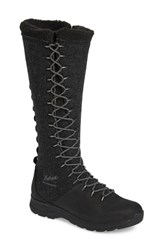 Woolrich Crazy Rockies Iii Lace Up Knee High Boot Black Wool