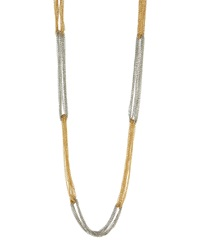 Lydell Nyc Two Tone Mixed Chain Necklace