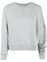 Maison Martin Margiela Mm6 Asymmetric Sweatshirt Grey