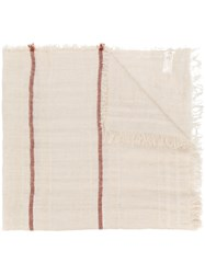 Peserico Frayed Edge Scarf Nude And Neutrals