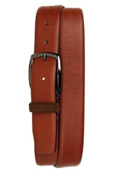 Ted Baker London Cubes Leather Belt Brown