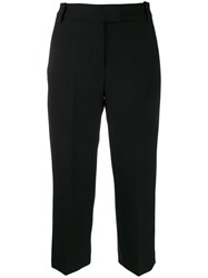 Dondup Cropped Tailored Trousers Black