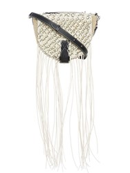 J.W.Anderson Jw Anderson Natural Small Bike Bag With Macrame White