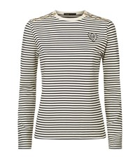 Maje Toxic Stripe T Shirt Female White