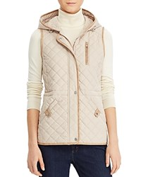 Ralph Lauren Hooded Quilted Vest Light Sand