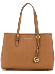 Michael Michael Kors Jet Set Travel Tote Women Leather One Size Brown
