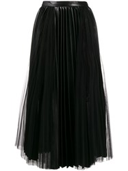 Ermanno Scervino High Waisted Pleated Skirt Black