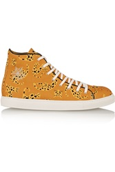 Charlotte Olympia Printed Canvas High Top Sneakers