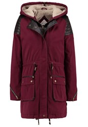 Bellfield Parka Burgundy Dark Red