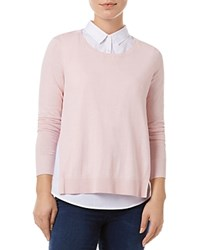 Phase Eight Madilyn Layered Look Sweater Blush White