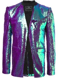 Unconditional Sequined Blazer Pink And Purple