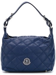 Moncler Small Quilted Tote Blue
