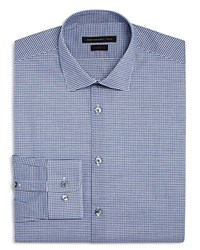 John Varvatos Star Usa Check Slim Fit Dress Shirt Blue