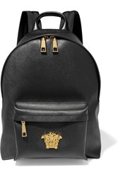 Versace Palazzo Brushed Pvc Backpack Black