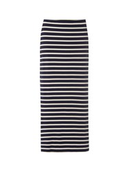 White Stuff Lola Stripe Maxi Skirt Navy