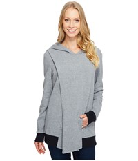 Lucy Keep Calm Pullover Wrap Silver Filigree Heather Women's Sweatshirt Gray