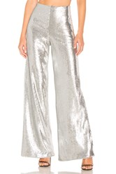 Lovers Friends Celine Pant Metallic Silver