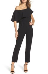 Ali And Jay Women's Le Boulevard One Shoulder Jumpsuit Black