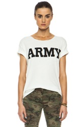 Nlst Army Cotton Blend Tee In White