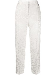 8Pm Jacquard Trousers White