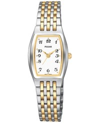 Pulsar Women's Basic Dress Two Tone Stainless Steel Bracelet Watch 20Mm Ptc403