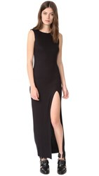 The Hours High Slit Muscle Maxi Dress Black