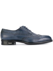 Baldinini Lace Up Brogues Calf Leather Leather Rubber Blue