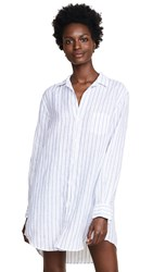 Frank And Eileen Mary Shirtdress Classic Blue Shirting Stripe