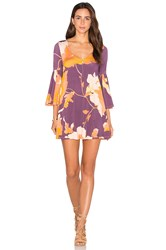 Rachel Pally Flutter Sleeve Mini Dress Purple
