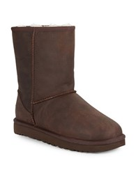 Ugg Classic Short Leather Boots Brown
