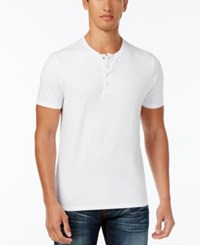 Inc International Concepts Men's Dressy Henley Only At Macy's White Pure