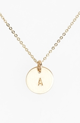 Nashelle 14K Gold Fill Initial Mini Circle Necklace 14K Gold Fill A