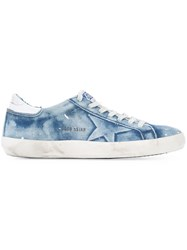 Golden Goose Deluxe Brand Denim Super Star Trainer Blue