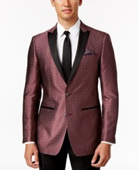 Tallia Men's Red Silver Medallion Sport Coat