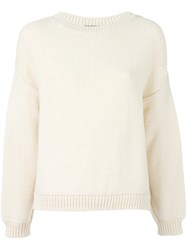 Vince Crew Neck Jumper Nude And Neutrals
