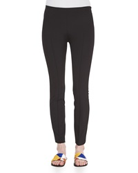 The Row Skinny Side Zip Pants Black