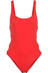 Solid And Striped The Jennifer Ring Embellished Swimsuit Red