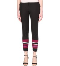 Ted Baker Stencil Print Striped Skinny Trousers Black