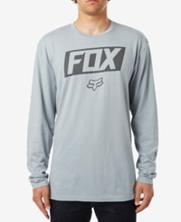 Fox Men's Graphic Print T Shirt Silver