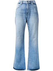Hudson Faded Flared Jeans Blue