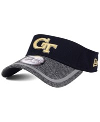 New Era Georgia Tech Yellow Jackets Training Visor Heather Gray Black Reflective Silver