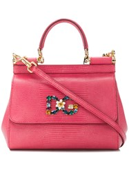 Dolce And Gabbana Sicily Tote Pink And Purple