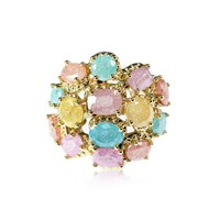 Cielle London Pierres De Cocktail Ring Blue Pink Purple