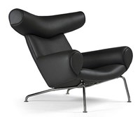 Modernica Ox Chair Leather Black