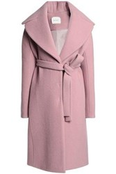 Delpozo Brushed Wool And Mohair Blend Coat Antique Rose