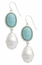 Simon Sebbag Women's Semiprecious Stone And Imitation Pearl Drop Earrings