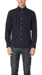 Hartford Paul Check Shirt Navy Red