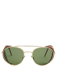 L.G.R Sunglassses Dahlak Aviator Sunglasses Gold Multi
