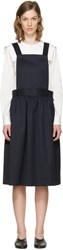 Comme Des Garcons Girl Navy Apron Dress